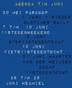 Agenda t/m juni