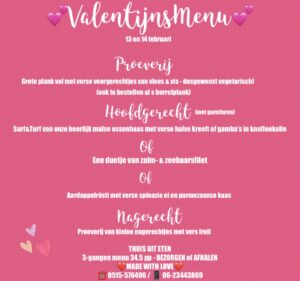 Valentijnsdiner Brasserie E&D